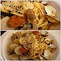 香蒜白酒蛤犡麵