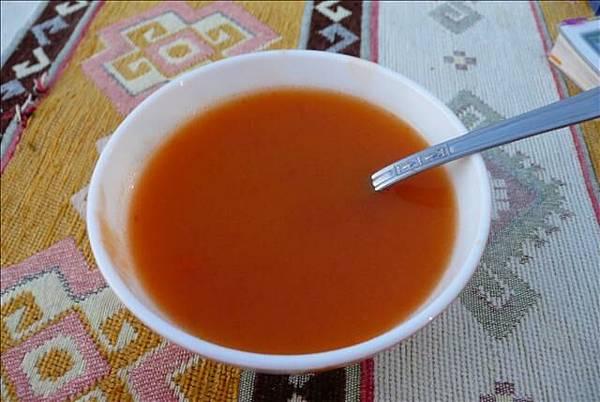 Coco準備的蕃茄湯