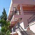 可愛的粉紅色建築