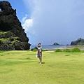 綠草地加海天