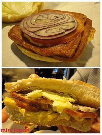 Wayne's cafe-斯帕姆豬肉漢堡-2