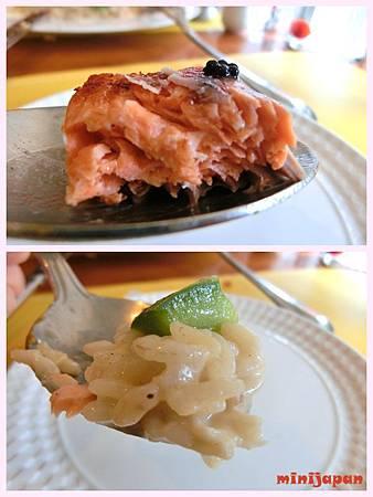 紗汀娜好食~香煎鮭魚排奶油燉飯佐魚卵醬拍.jpg