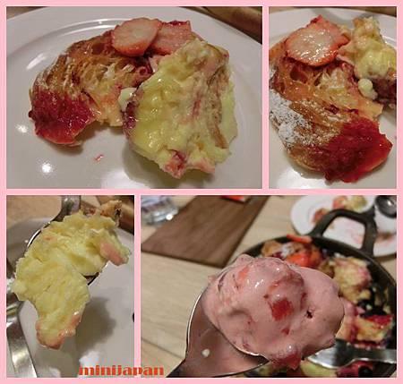omocafe_草莓莓果麵包布丁拍