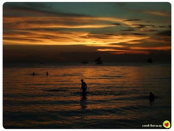 長灘的夕陽