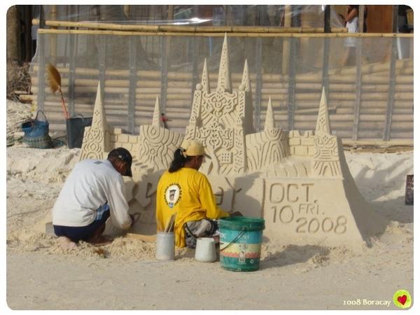 Boracay的沙雕 都是當天做的喔
