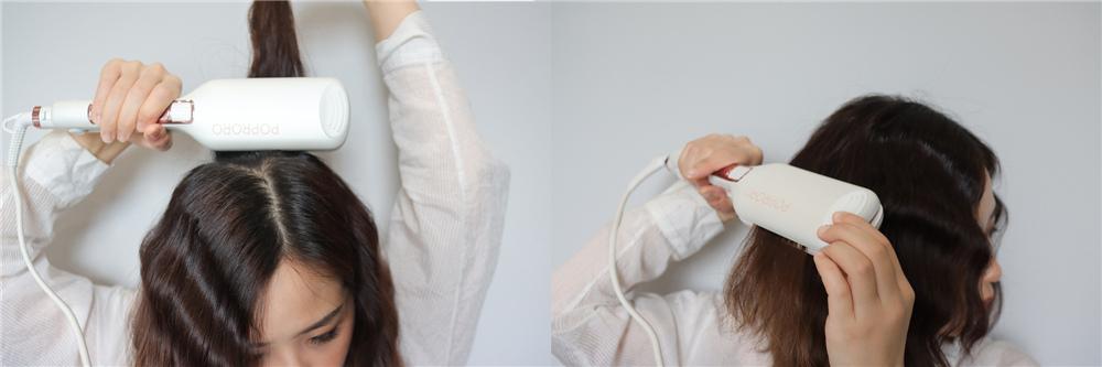 〖 造型器 〗 PoProro波浪夾 打造韓系復古蛋捲頭 可鹽可甜 造型分享 髮量增多顯臉小|beeding嗶丁選物 (11).jpg