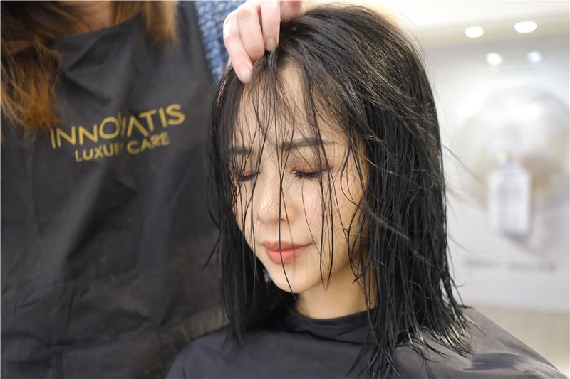 〖 頂級護髮療程 〗護一次抵兩次!西班牙品牌 Innovatis 奢華魚子菁華BTX頂級護髮療程真實心得 (20).JPG