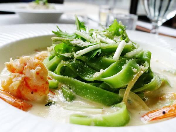 水相-鮮蝦奶油波菜義大利寬麵