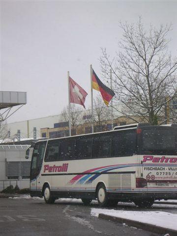 飄雪的瑞士及德國邊界