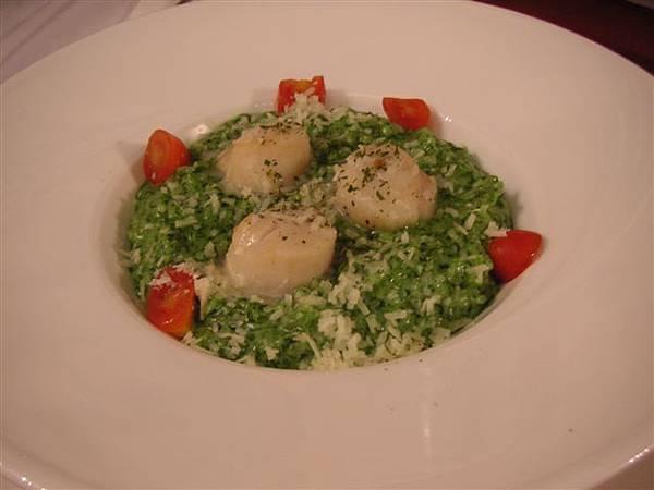 菠菜干貝燉飯