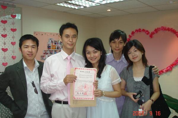 恭喜江先生VS謝小姐結婚