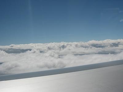 機翼旁的雲海