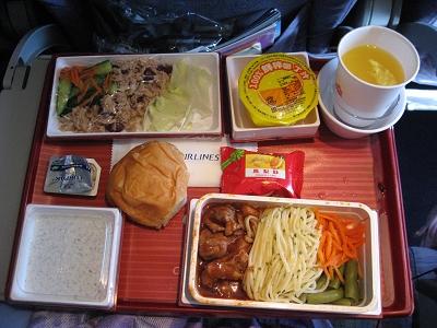 飛機餐:豬肉義大利麵