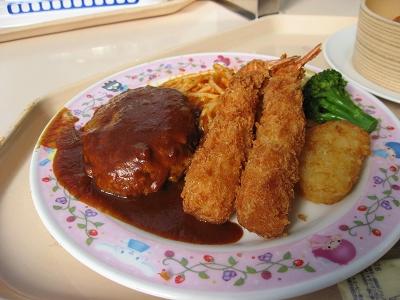午餐:漢堡和炸蝦吧?
