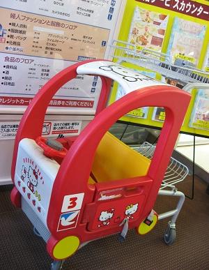 連超市的兒童購物車都是Kitty造型