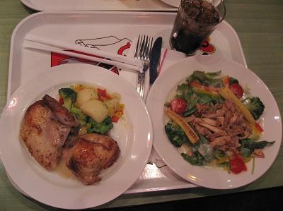 晚餐:烤雞、雞肉沙拉