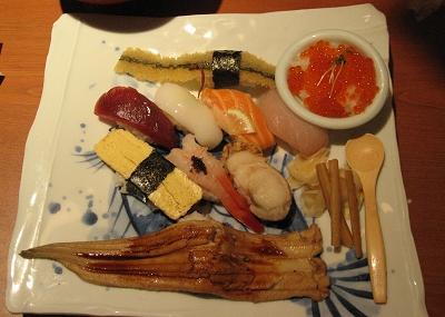 中餐:上野0101 9樓的某壽司店之定食