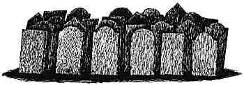 End(26個小墓碑)