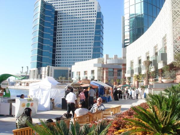 Dubai Festival City 戶外的市集