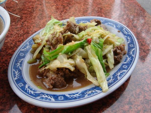高麗菜炒牛肉