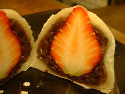 明月堂的草莓大福斷面