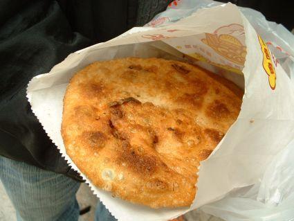 溫州街蔥油餅近照