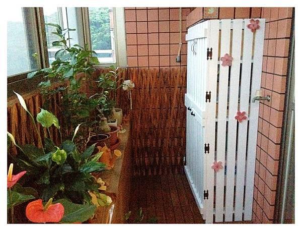 陽台的收納櫃-陳小姐