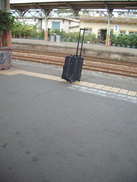 嘉義車站    一位年老婦人的行李