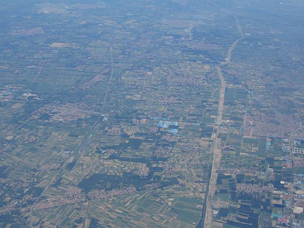 飛機上看北京街景-1