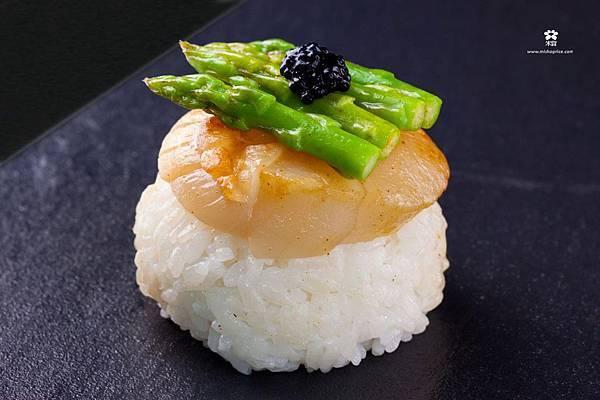 20121220 干貝蘆筍烏魚子飯糰