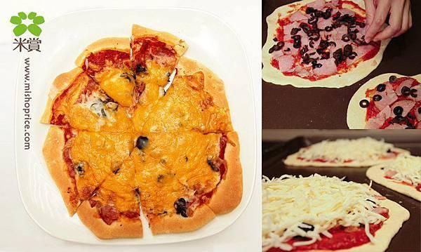 20130513 黑橄欖蕃茄火腿米披薩