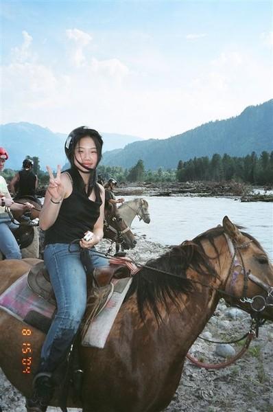 Horse Ride: Tina on horseback