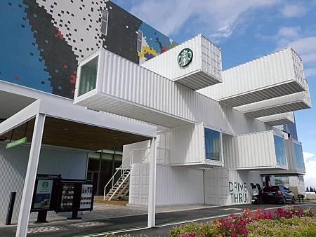 全台第一間最美貨櫃屋星巴克花蓮洄瀾門市