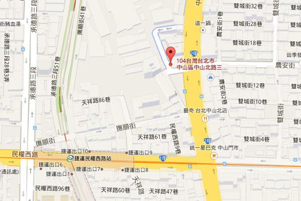 004-梵谷台北map