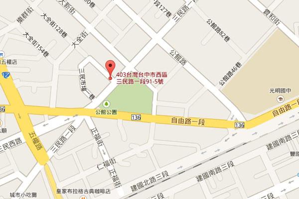 004-梵谷台中map