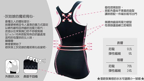 【可蘭霓台灣製】輕透機能-塑身挖背背心3