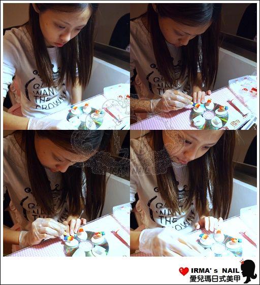 年紀最小的怡婷雖然一邊唸書一邊工作,但是還是很認真想要成為一名美甲師