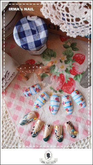 愛兒瑪日式美甲店內作品Works by manicurist in Irma nail salon Aug.2012(2)
