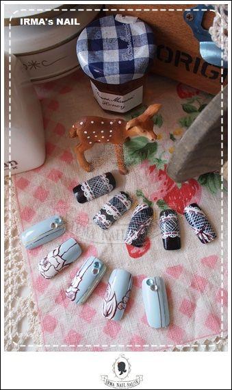 愛兒瑪日式美甲店內作品Works by manicurist in Irma nail salon Aug.2012(1)