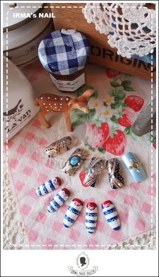 愛兒瑪日式美甲店內作品Works by manicurist in Irma nail salon Aug.2012(3)