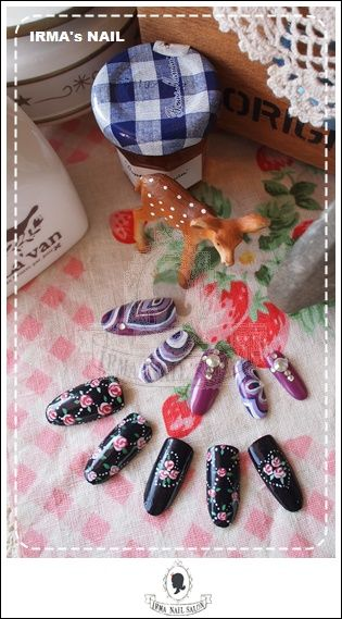 愛兒瑪日式美甲店內作品Works by manicurist in Irma nail salon Aug.2012(5)