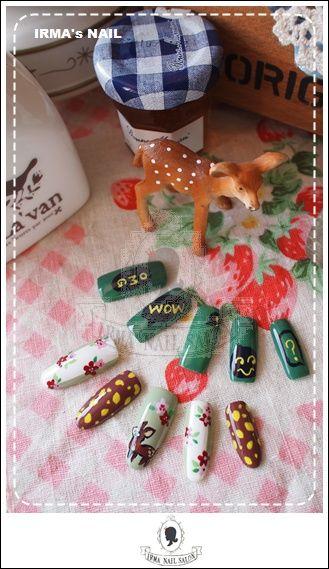 愛兒瑪日式美甲店內作品Works by manicurist in Irma nail salon Aug.2012(6)