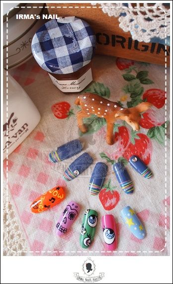 愛兒瑪日式美甲店內作品Works by manicurist in Irma nail salon Aug.2012(7)