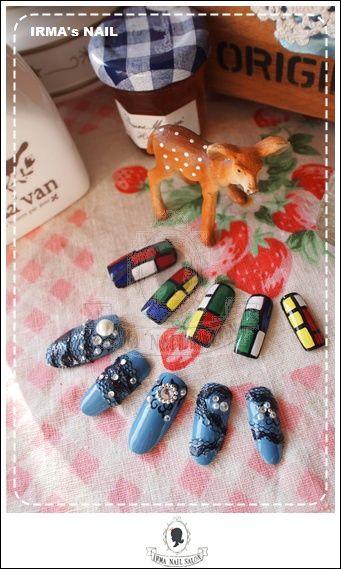 愛兒瑪日式美甲店內作品Works by manicurist in Irma nail salon Aug.2012(8)
