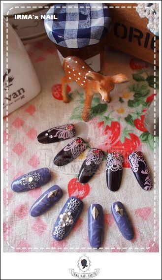 愛兒瑪日式美甲店內作品Works by manicurist in Irma nail salon Aug.2012(12)