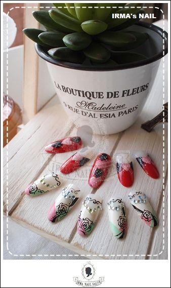 愛兒瑪日式美甲店內作品Works by manicurist in Irma nail salon Aug.2012(10)