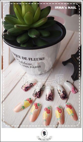 愛兒瑪日式美甲店內作品Works by manicurist in Irma nail salon Aug.2012(15)