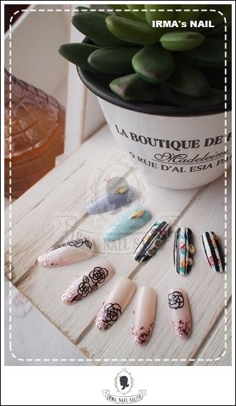 愛兒瑪日式美甲店內作品Works by manicurist in Irma nail salon Aug.2012(17)