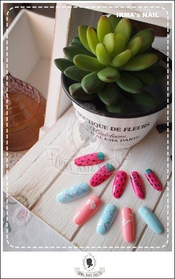 愛兒瑪日式美甲店內作品Works by manicurist in Irma nail salon Aug.2012(18)