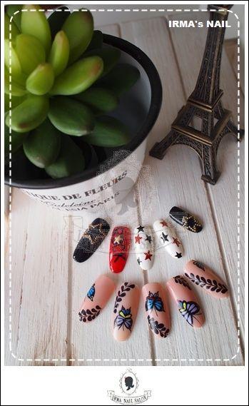 愛兒瑪日式美甲店內作品Works by manicurist in Irma nail salon Aug.2012(20)